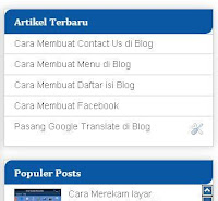 Cara mengganti warna background judul sidebar Blog