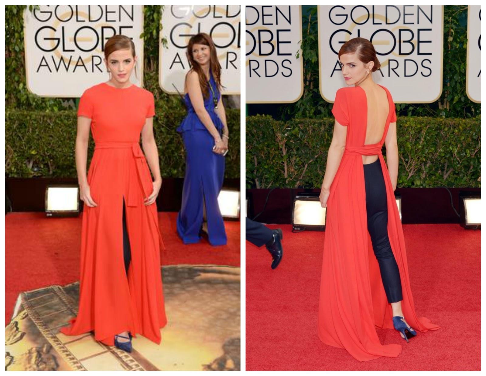 Emma Watson de Dior Globos de oro 2014