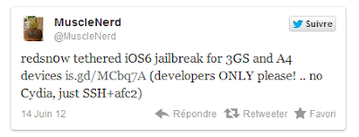 The tethered jailbreak devices A4 iOS 6