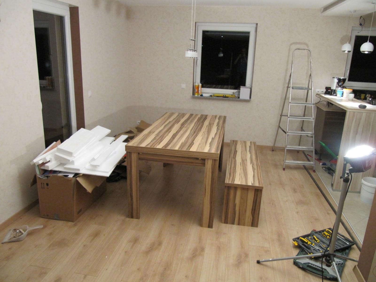 projekt schnitzelbude laminat im wohnzimmer und essbereich. Black Bedroom Furniture Sets. Home Design Ideas