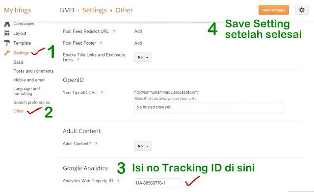 cara untuk mengaktifkan akaun Google Analytics