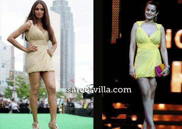 Bipasha Basu and Ameesha Patel in same dress