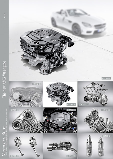 2012/2013 New Mercedes-benz AMG Engine M 152 5.5-liter litre V8 naturally aspirated SLK 55 R 172