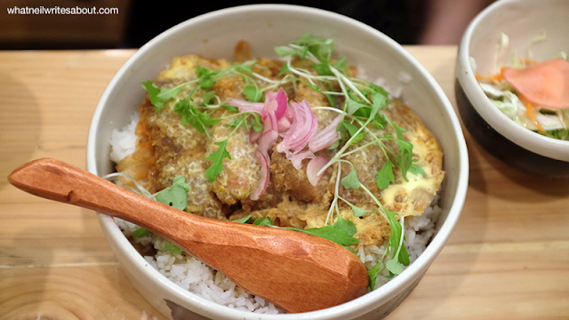 Neil Writes About Ooma Japanese Rice Bar katsudon