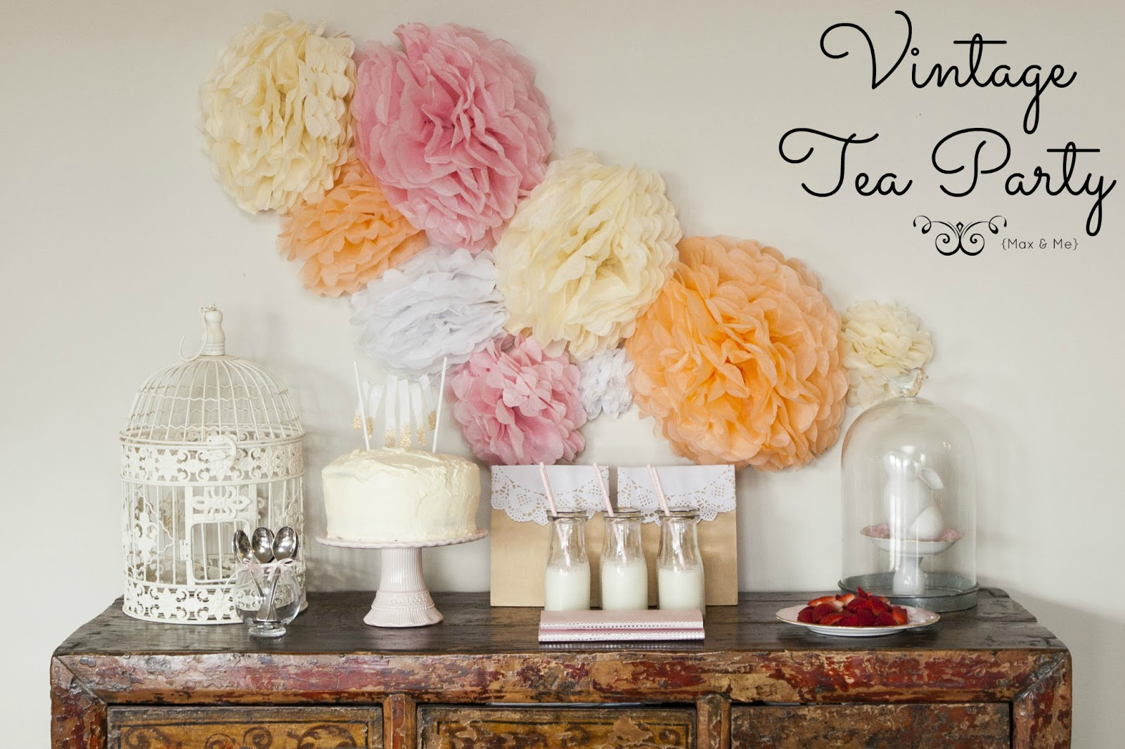 Max me vintage style tea party for Decoracion para pared vintage