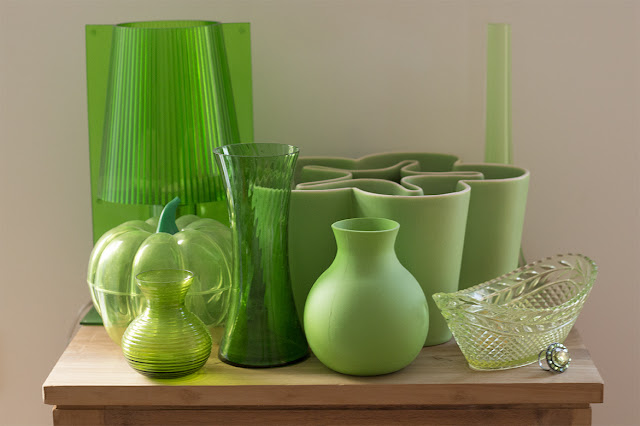 collection of green objects