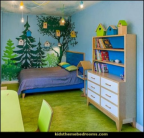 Forest bedroom ideas decorating woodland theme forest for Forest themed bedroom ideas