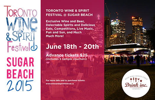 Toronto Wine & Spirit Festival - Sugar Beach 2015