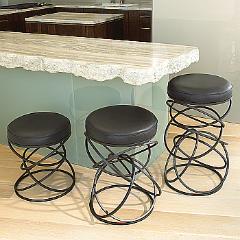 iron and leather bar stool