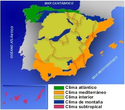 los climas de España.