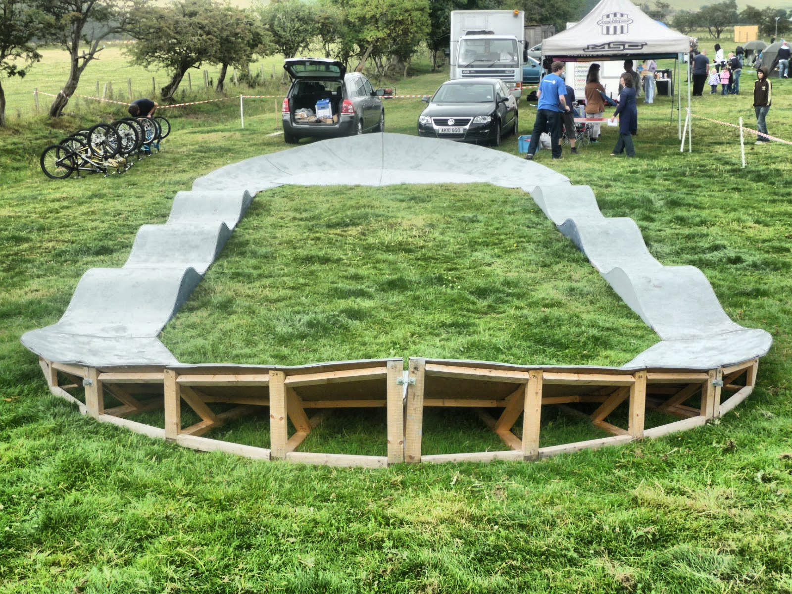 Backyard Wood Pump Track : Wendler Im Thinking Wood