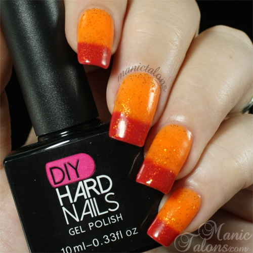 DIY Hard Nails Sun Glow Swatch