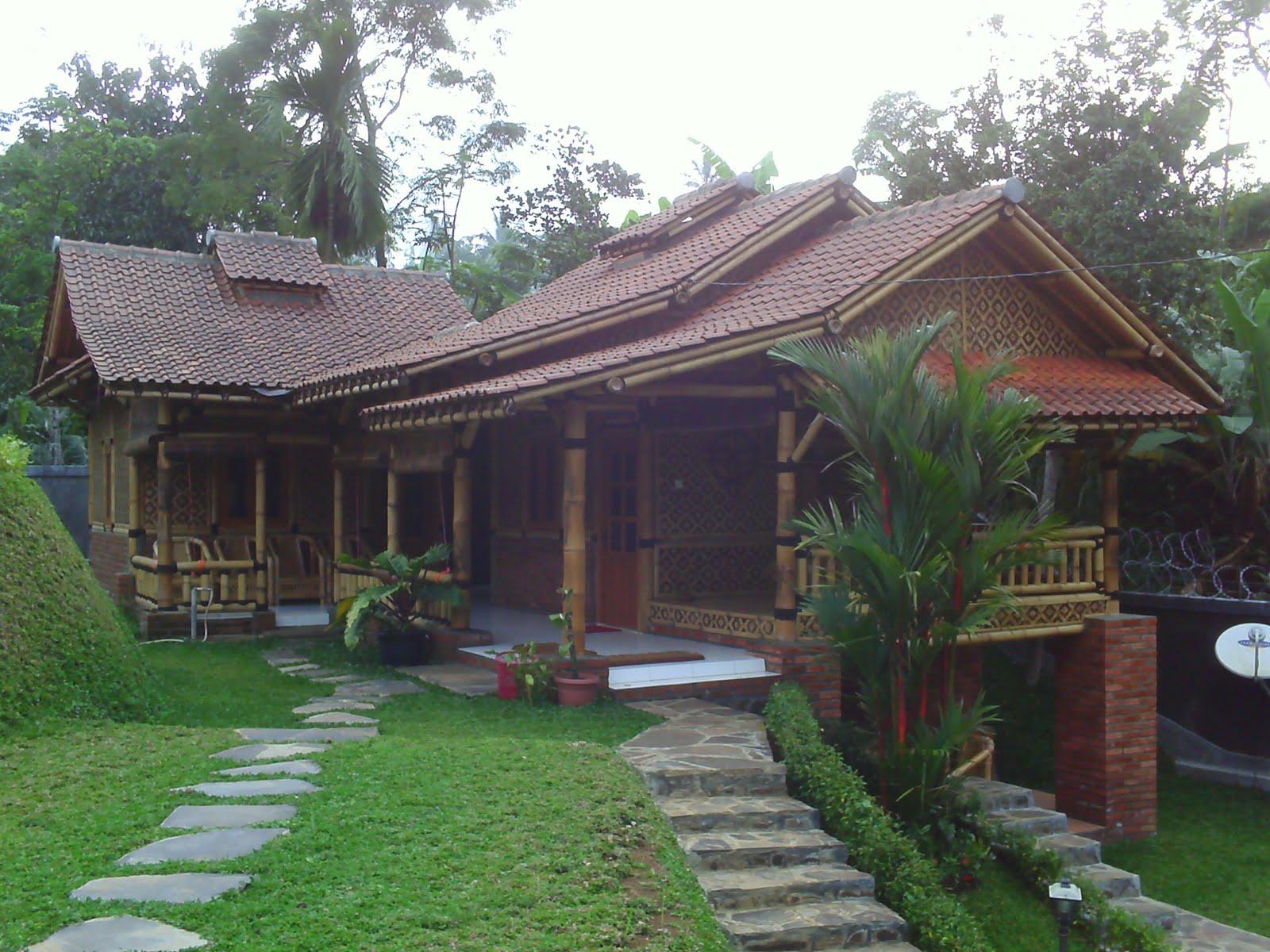 Gambar Desain Rumah Villa Bambu Eksotik Model Desain Rumah Terbaru