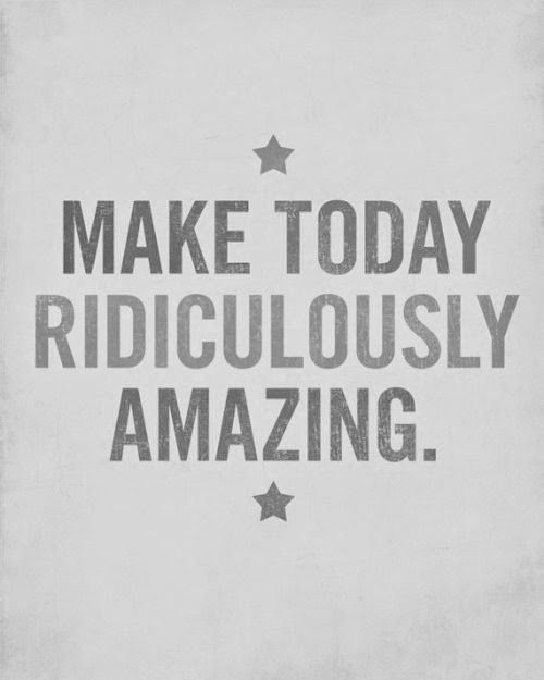 make today ridiculously amazing, OLW, one little word