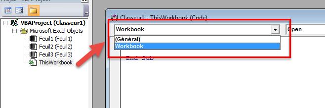 الخيار Workbook