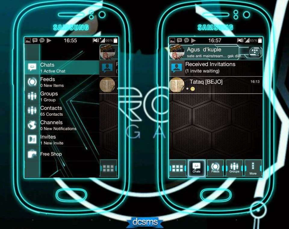 BBM Modifikasi versi Tron Legacy | Super Black!