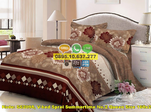 V-bed Sprei Summertime No.2 Queen Size 160x200