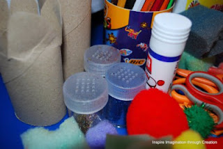 Glitter shakers less mess and can be used more independently