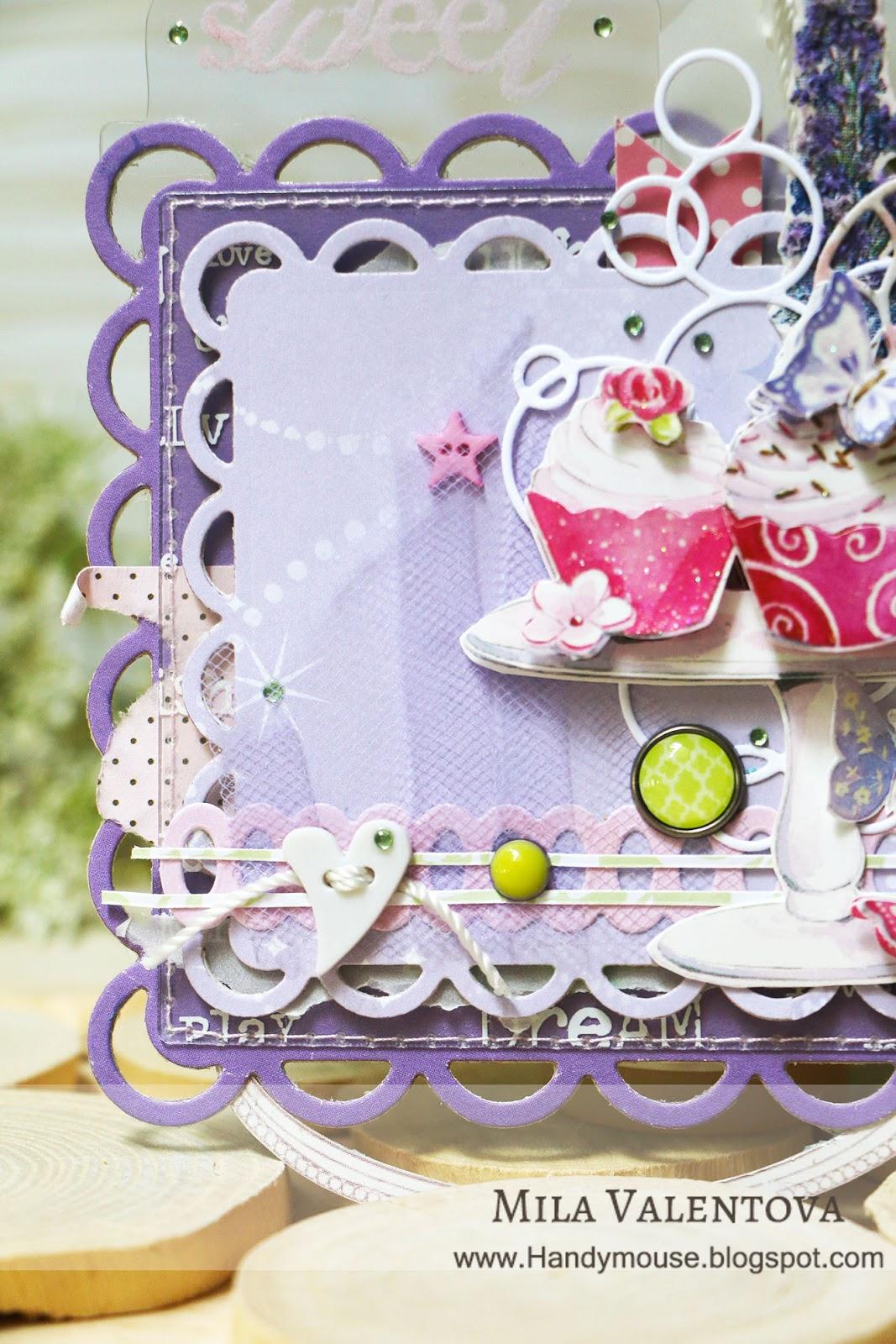 Магнит. Лаванда, горная лаванда. Сладости и розовый цвет. Мила Валентова.