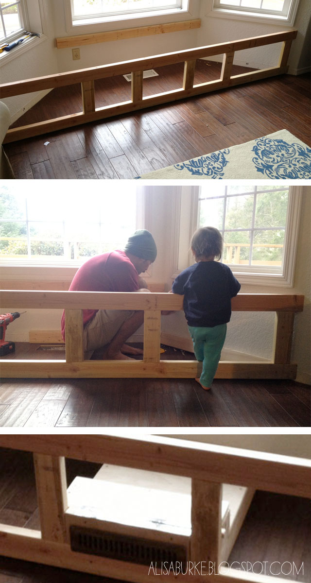 Alisaburke diy window seat - How to build a window bench ...
