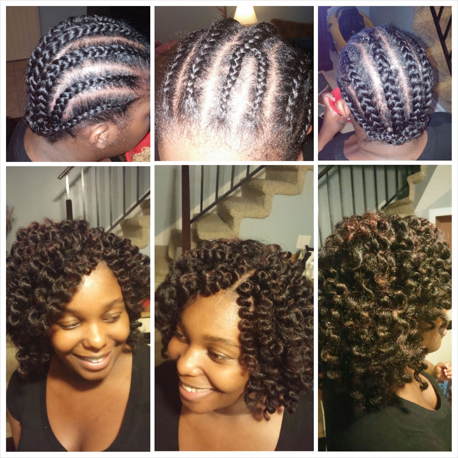 Crochet Hair Growth : ... Hair Journey....Lets Grow!: First Attempt! Crochet Braids/Twistout
