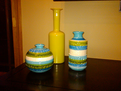 Mid-century Italian glass and pottery