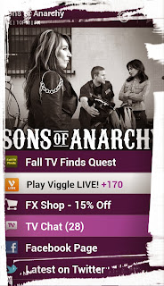 Sons of Anarchy, SAMCRO, Viggle, Viggle Live, FX