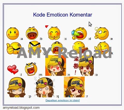 buat emoticon komentar