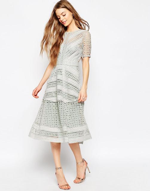 grey mesh dress, grey grid midi dress,
