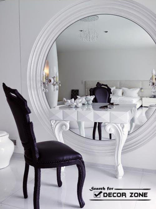 20 mirrored dressing table designs and decorating ideas for Black makeup table with mirror