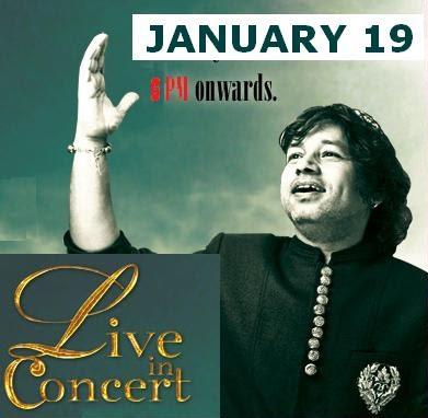 kailash kher live concert In Delhi