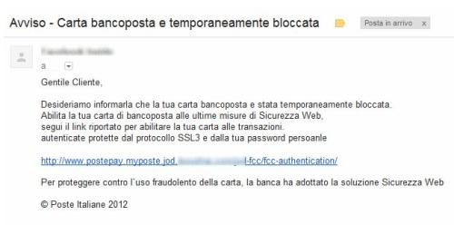 Tutela Amici False Email Di Poste Italiane Avvisano Il Blocco Della