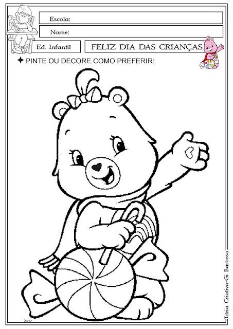 Fazendo Arte Dia da Criança Ursinho Carinhoso Feliz.