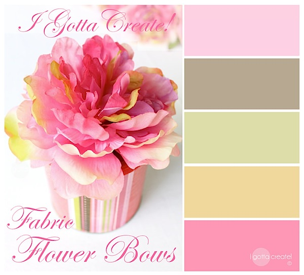 Lovely color palette for mothers and babies, plus beautiful craft tutorials. | visit I Gotta Create!