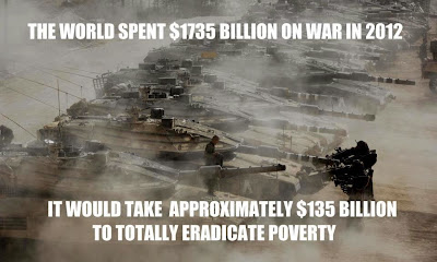 We need a War on Want, a War on Waste, and a War on Bureaucracy. Cut back on all Military Spending and Waste. Stop our Wars on the World! 223403_551600324859889_1116561098_n