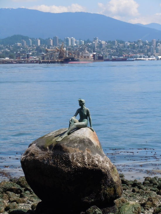 Girl in Wetsuit sculpture Stanley Park
