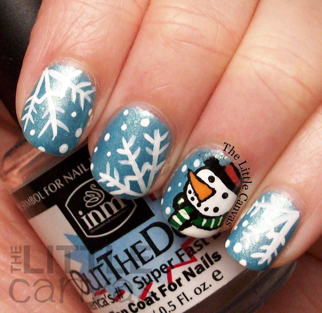 Snowman nail art inspired by simplyrins the little canvas below is the youtube video that rina created for this look for you to all see since i will probably confuse you if i explain how i did the snowmen in depth prinsesfo Image collections