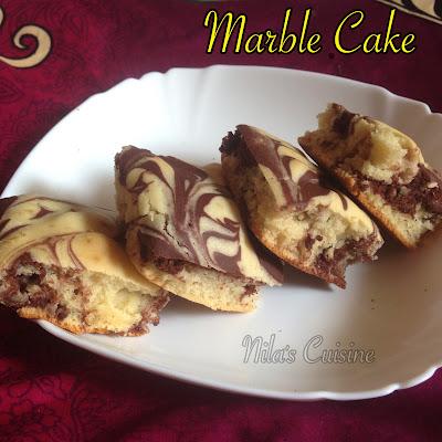 Eggless Marble Cake
