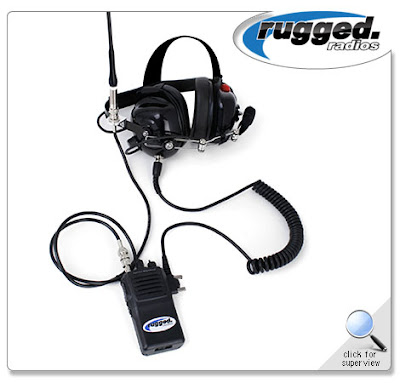 Crew Chief Headset and Vertex VX230 UHF Radio XL
