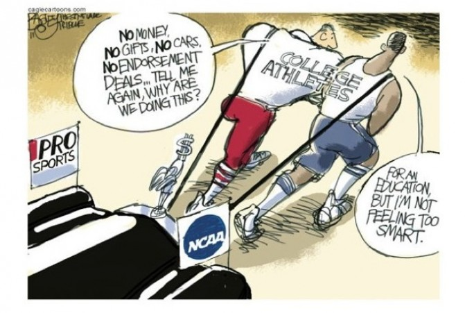 college athletes should be compensated essay Some say that compensating college athletes can make professional sports old-fashioned, because more athletes who can't make it in the pros will find a means to go to school the decision to compensate college athletes can have many reparations.