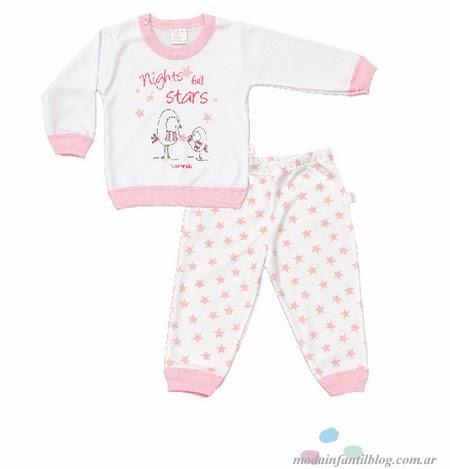 pijamas para bebes naranjo básicos otoño invierno 2014