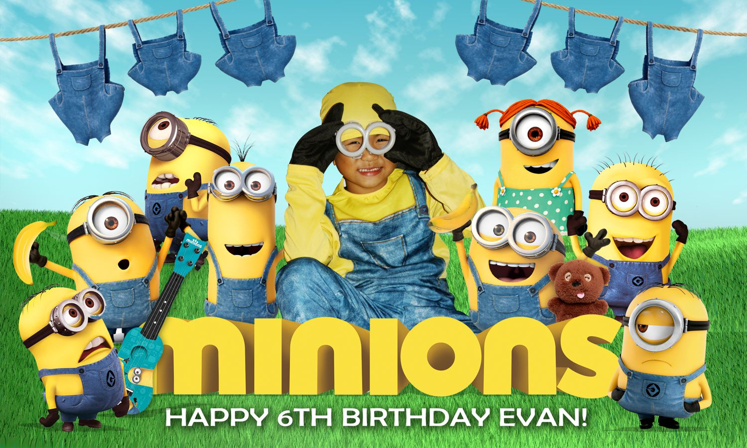 Minions Birthday Tarpaulin Design Best Custom Invitation
