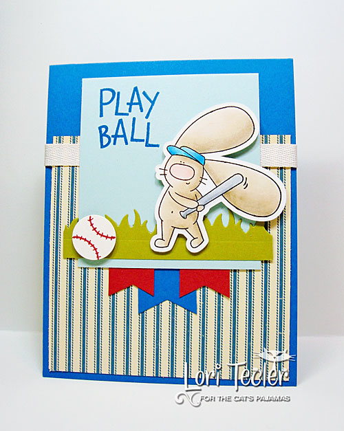 Play Ball card-designed by Lori Tecler/Inking Aloud-stamps and dies from The Cat's Pajamas