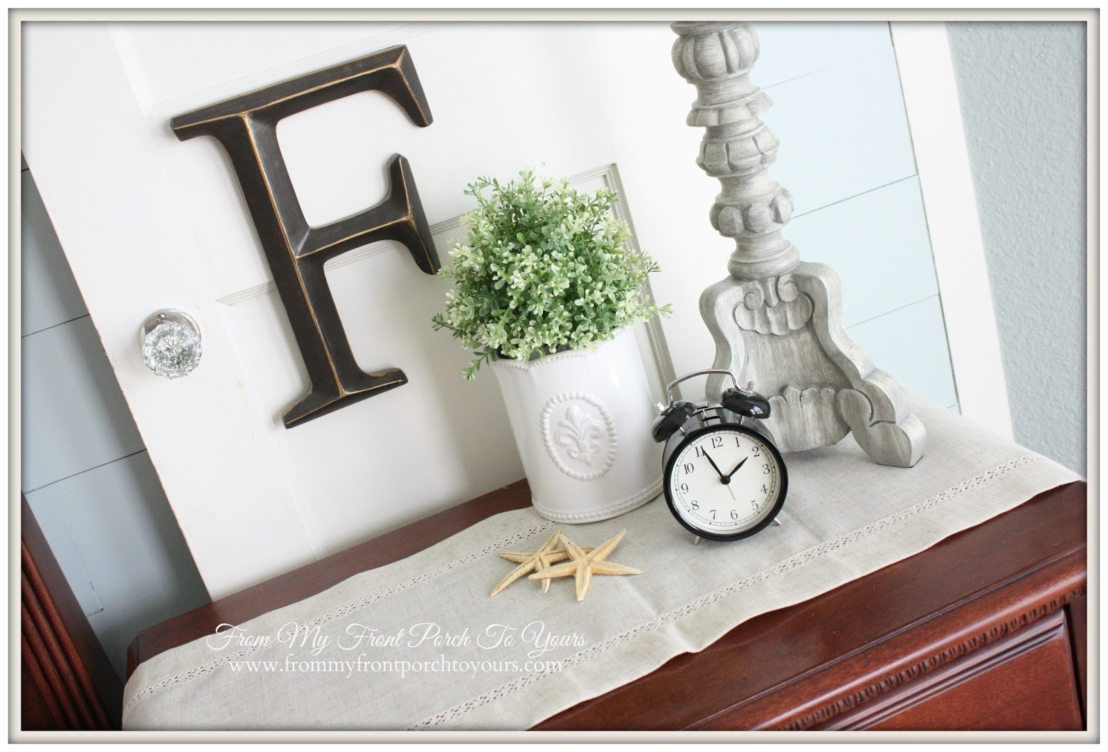 From My Front Porch To Yours- French Farmhouse Bedroom Ikea clock
