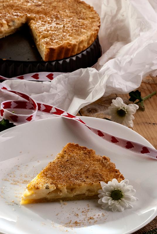tarta-de-creme-brûlée-de-pera-y-queso-azul