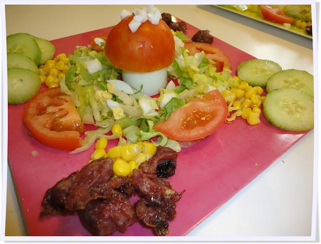 salade, enfants, champignon, champipi