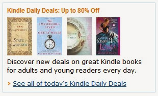 Image: Kindle Daily Deals: Up to 80% Off - Discover new deals on great Kindle books for adults and young readers every day.