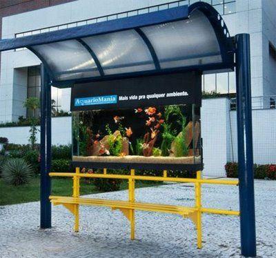 20 Akuarium Paling Unik dan Kreatif di Dunia : Bus Stop Aquarium