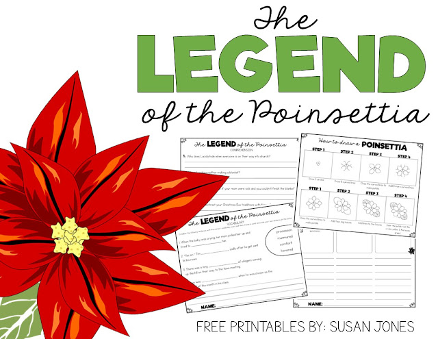 Trust image within the legend of the poinsettia printable story
