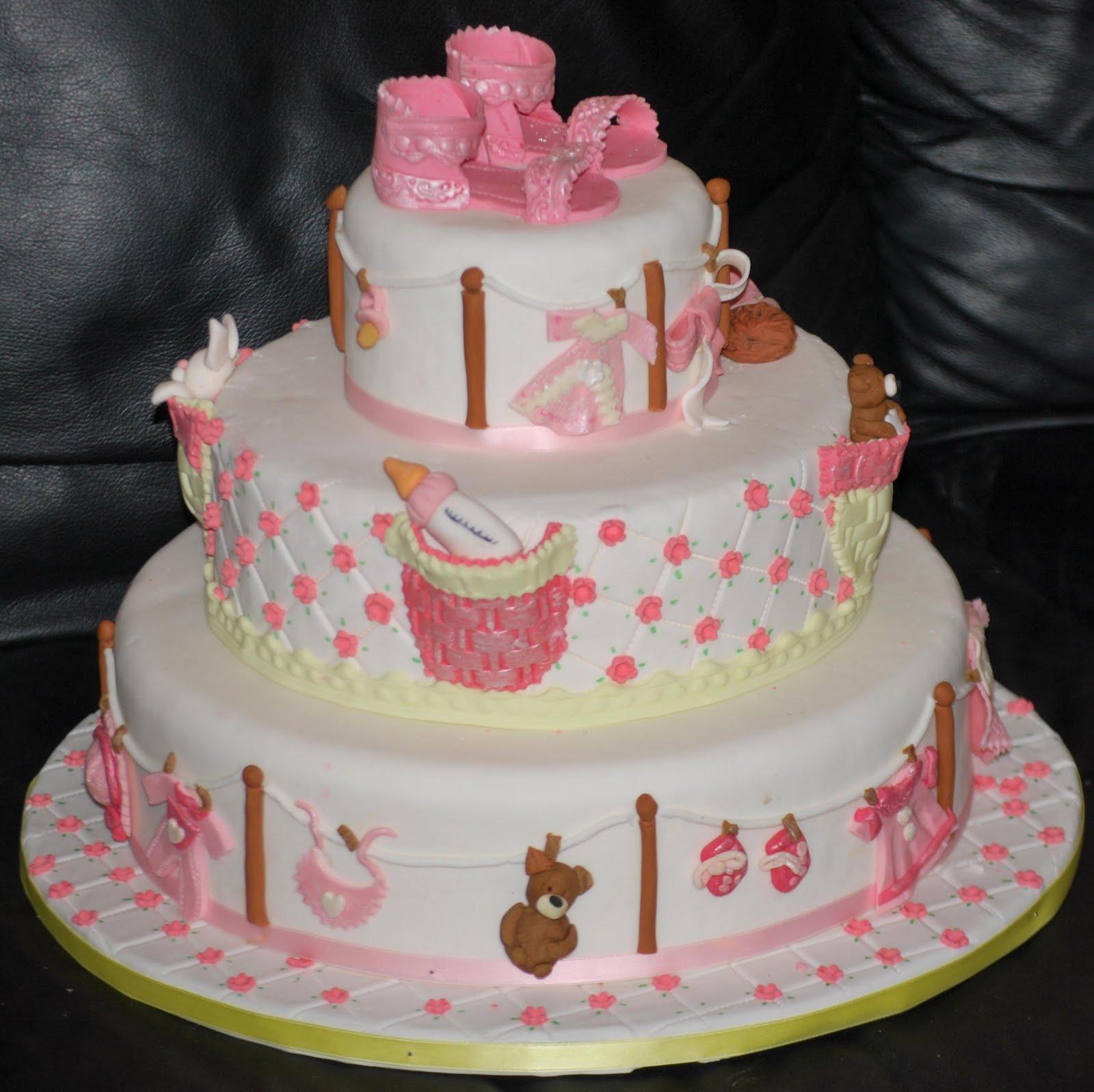 torta battesimo tre piani in pasta di zucchero da il